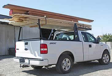 This lumber rack for trucks can carry up to 2,000 lbs
