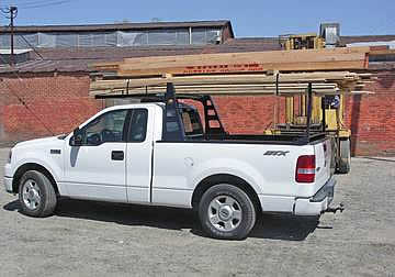 This pick-up truck rack protects your truck bed